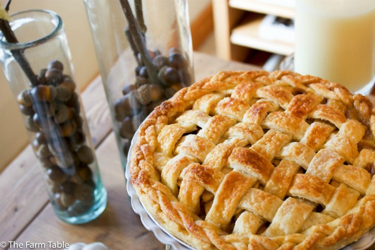 Maple Bourbon Apple Pie