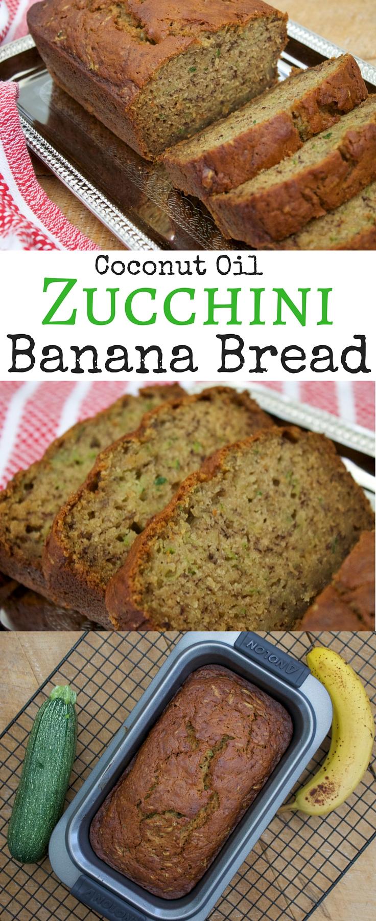 Zucchini Banana Bread Recipe | Zucchini Bread with Coconut Oil
