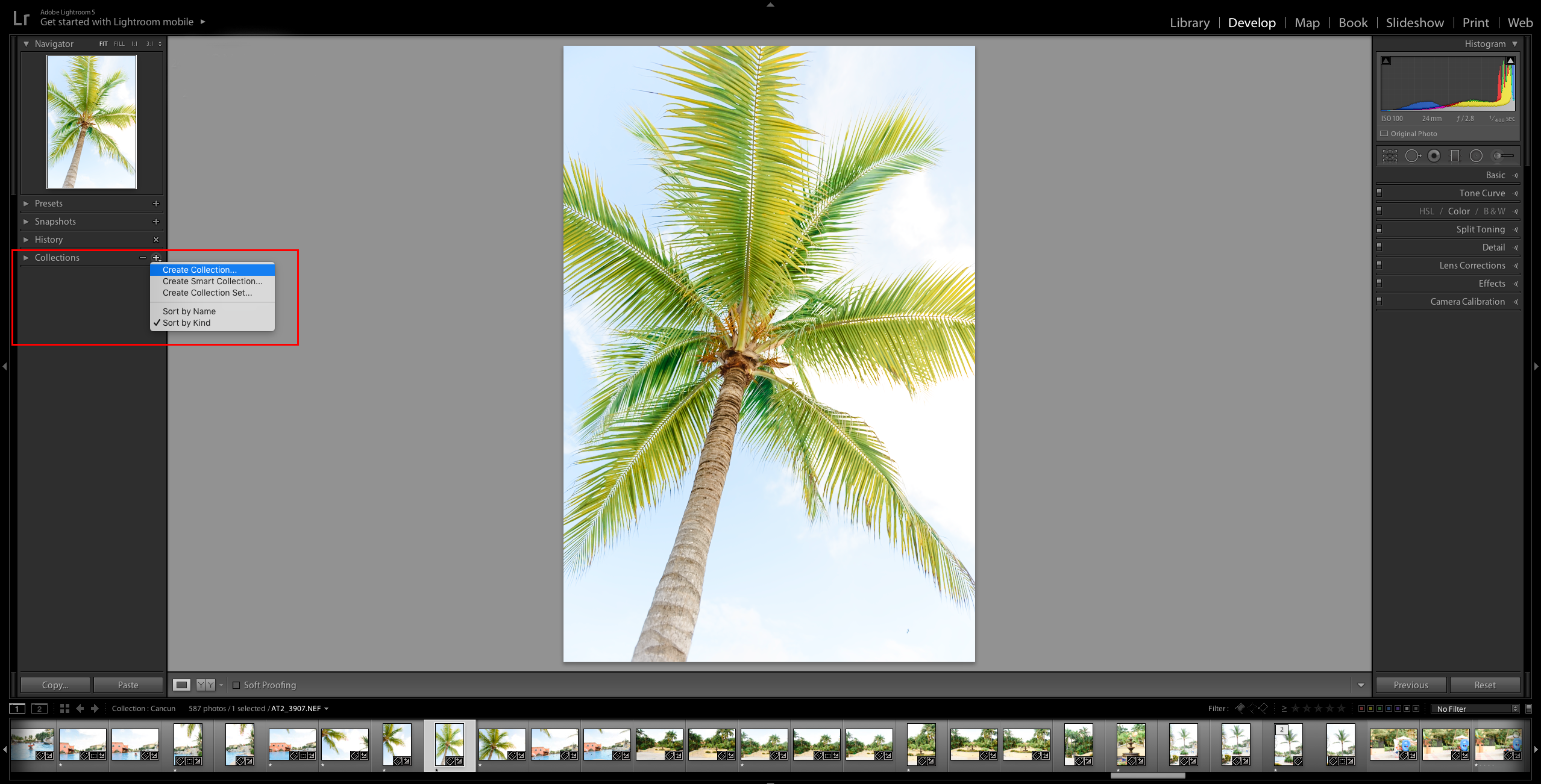 Adobe Lightroom CC - Create a Collection