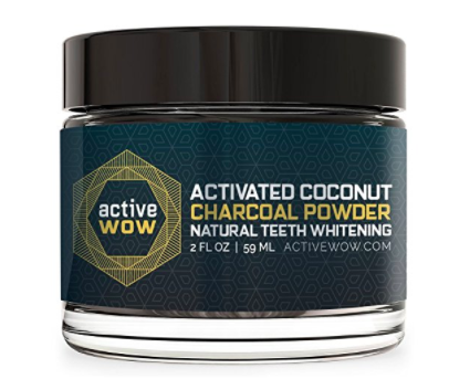 active wow activated coconut charcoal powder natural teeth whitening