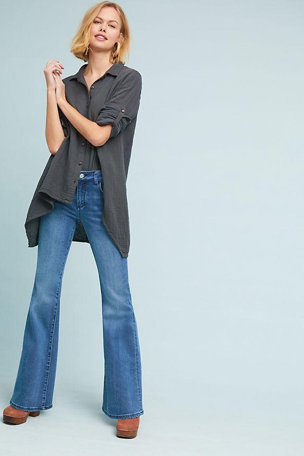 Anthropologie Pilcro Wharton High-Rise Flare Jeans