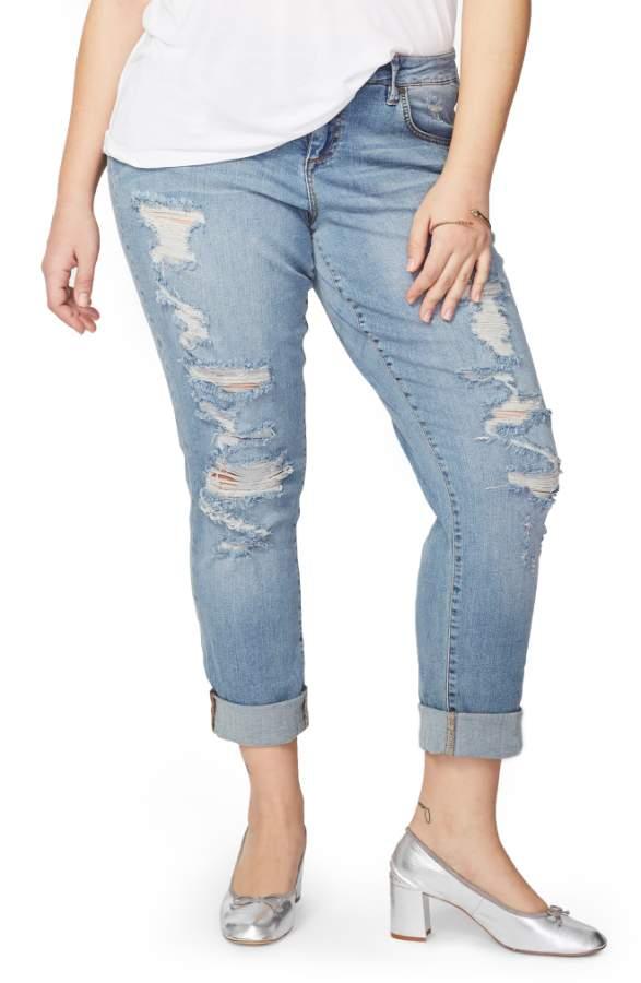 Rachel Roy Ripped Girlfriend Jeans