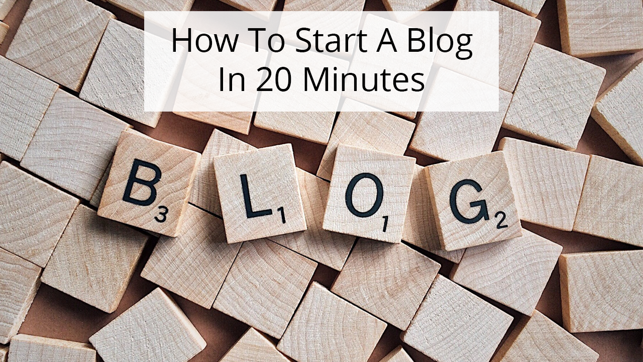 Step-by-step guide covering everything you need to know to start a blog in 20 minutes or less. It's easy to get started blogging.