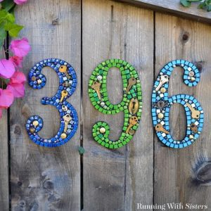 How To Make Mosaic House Numbers The Easy Way