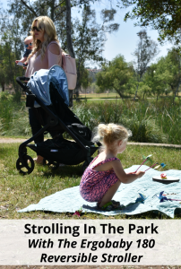Strolling In The Park With The Ergobaby 180 Reversible Stroller