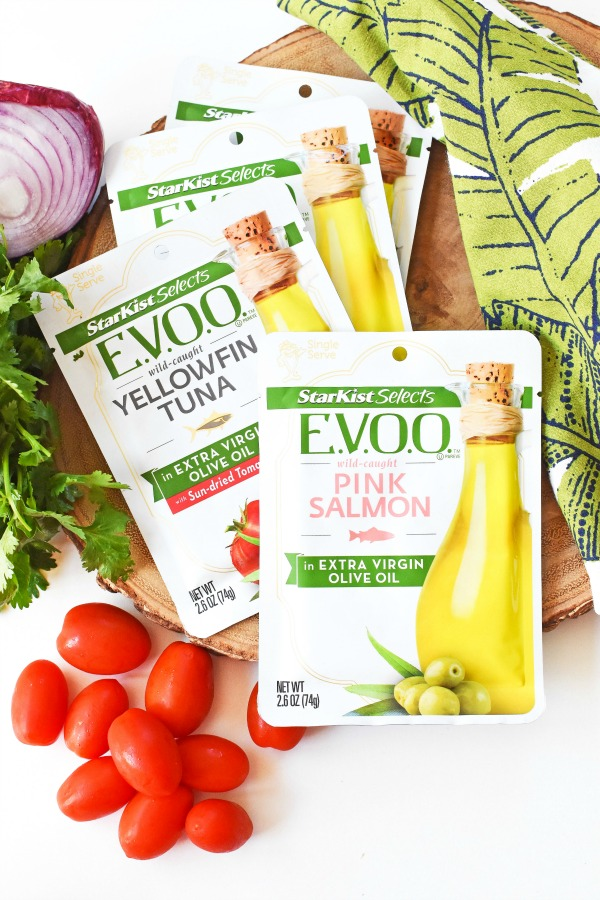 Starkist EVOO Selects Pouches with fresh veggies