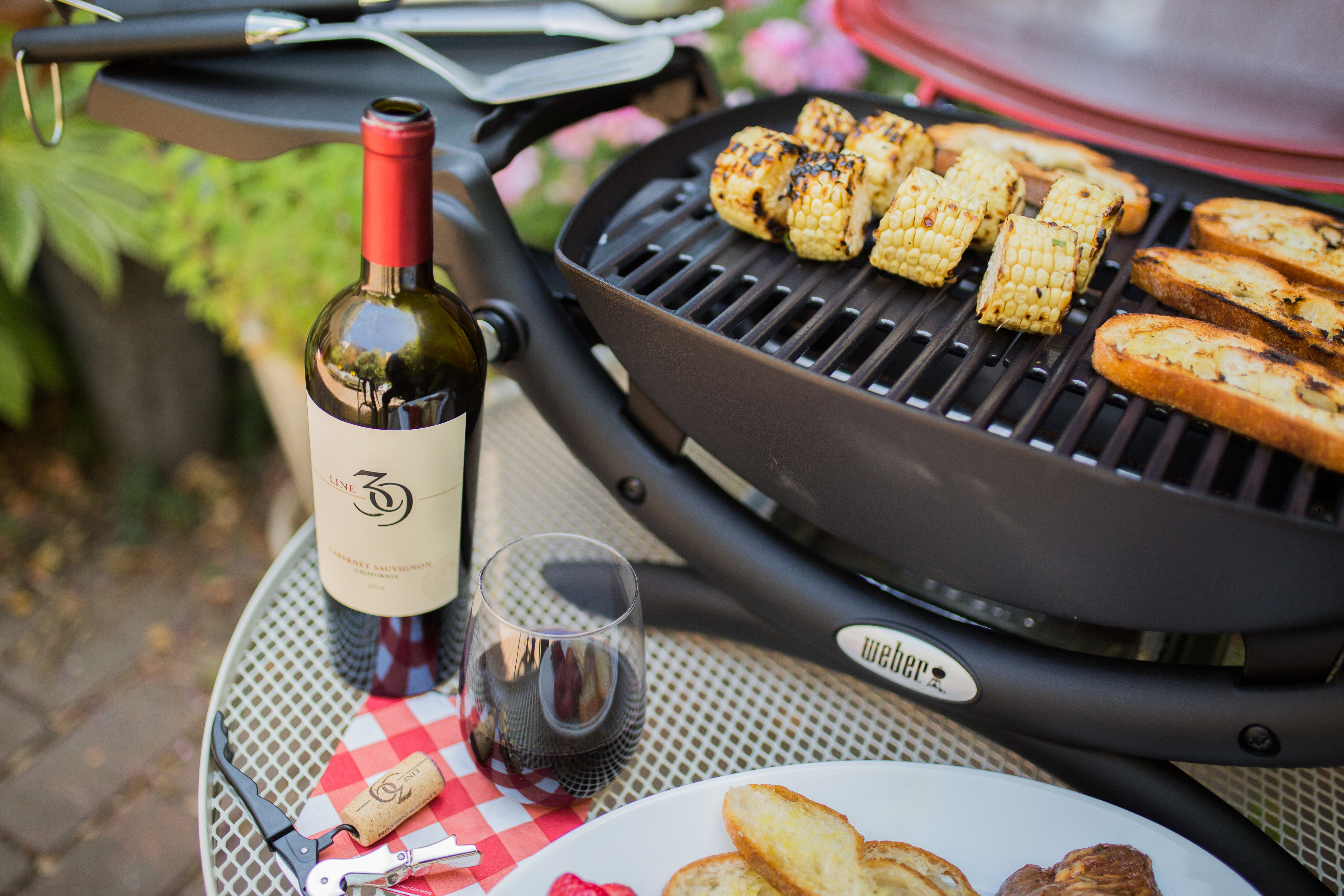 Line 39 wine and Weber grill