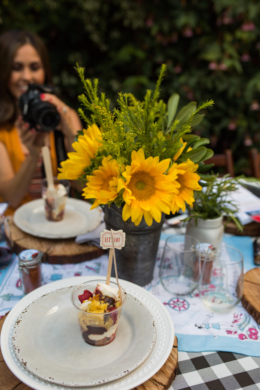 Sunflowers and Dessert