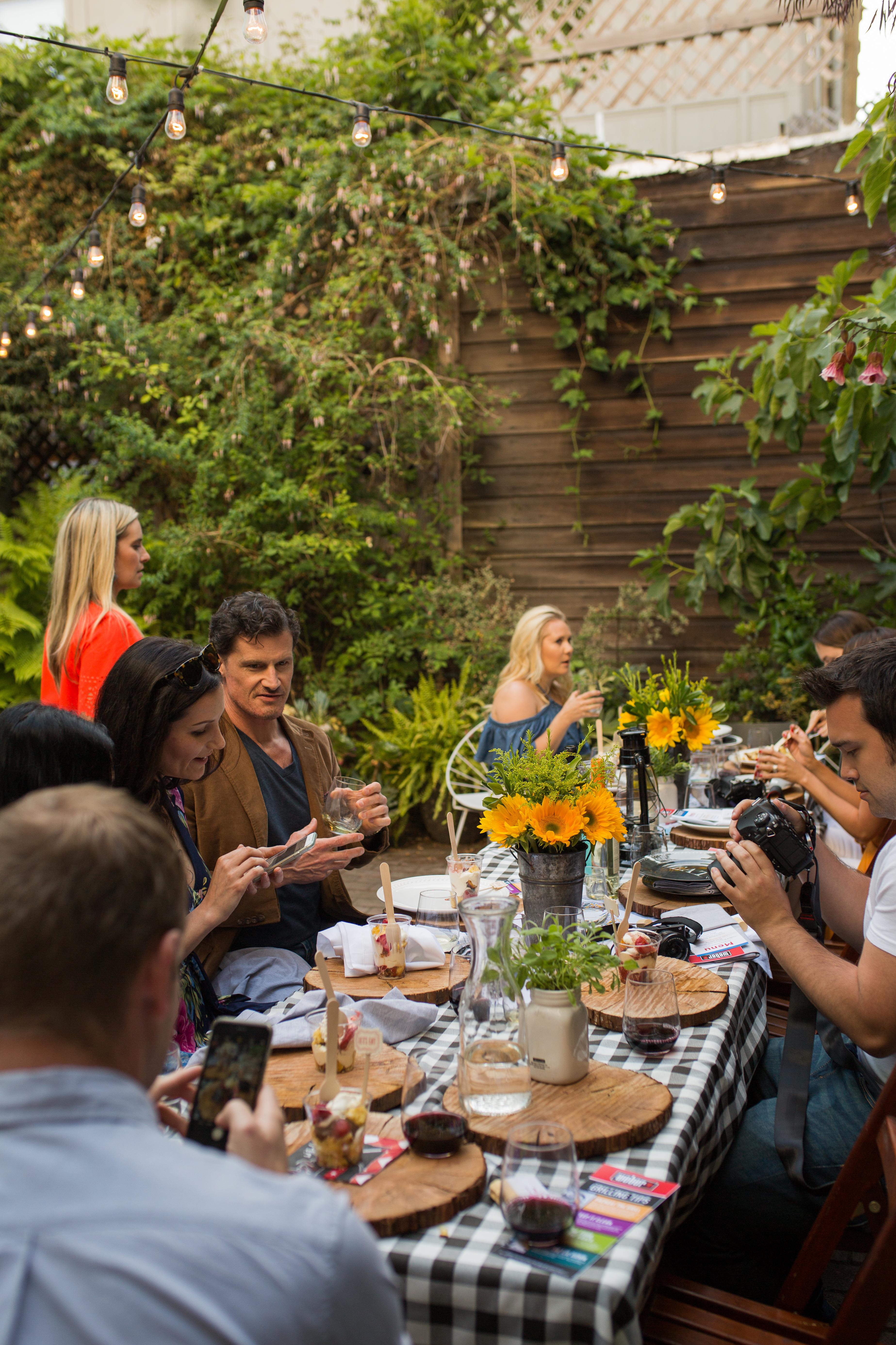 backyard barbecue tablescape