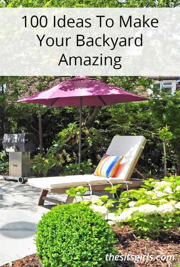 Have fun outside this summer with over 100 backyard garden ideas!