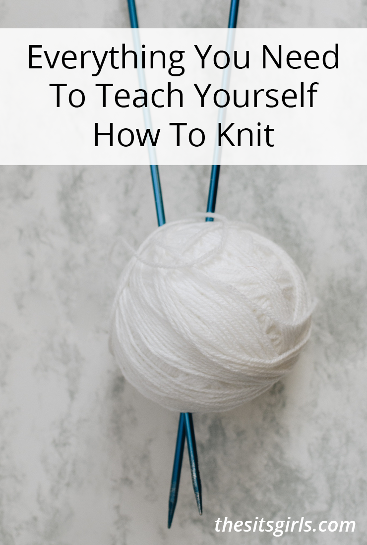 Everything you need to teach yourself to knit! Must-have supplies for new knitters and where to get them all. #knitting