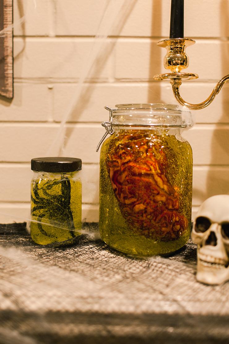 DIY Halloween Decorations: Spooky Specimen Jars