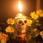 Flaming Skull Torches