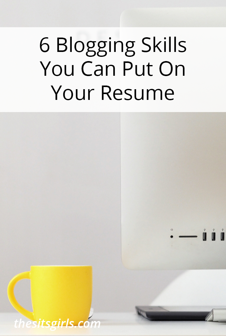 Blogging Skills For Your Resume