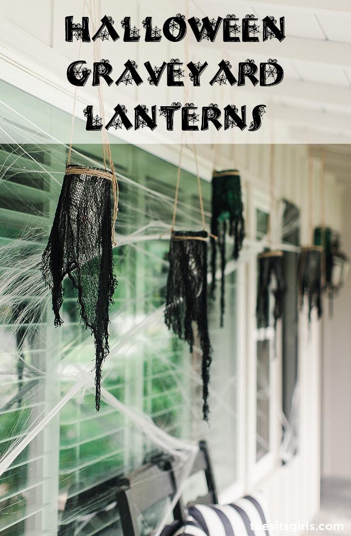 Halloween Graveyard Lantern DIY