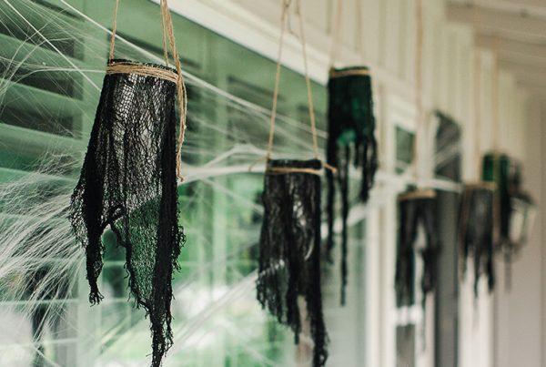 spooky graveyard lanterns for Halloween