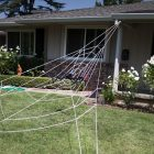 giant spider web yard decoration