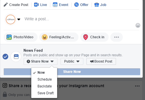 How to Schedule Facebook Posts And Save Time For Free | The SITS Girls