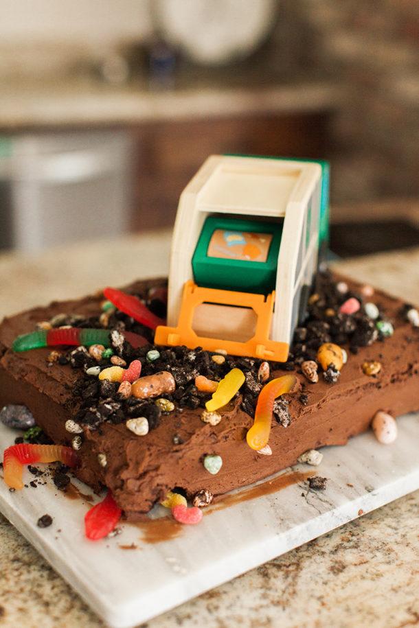 trash bash birthday cake