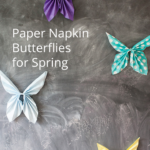 Turn everyday items into awesome decor! Paper Napkin Butterflies are perfect for Spring decor, parties, fairy parties, and to decorate a little girl's room!