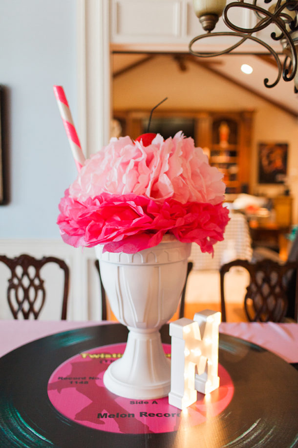 ice cream sundae centerpieces