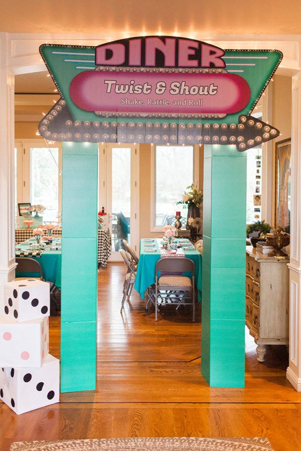 1950s retro sock hop diner decoration