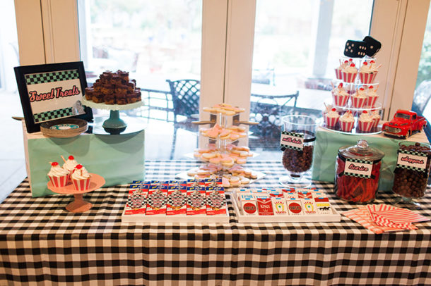 retro food and drinks for sock hop