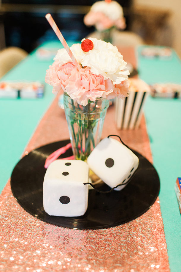 Tablescape for 1950s Retro Sock Hop