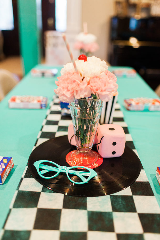 How to throw the perfect 1950s Retro Sock Hop with delicious food, cocktails, menus, tablescapes, favors, and more. It makes for a super fun, special party!