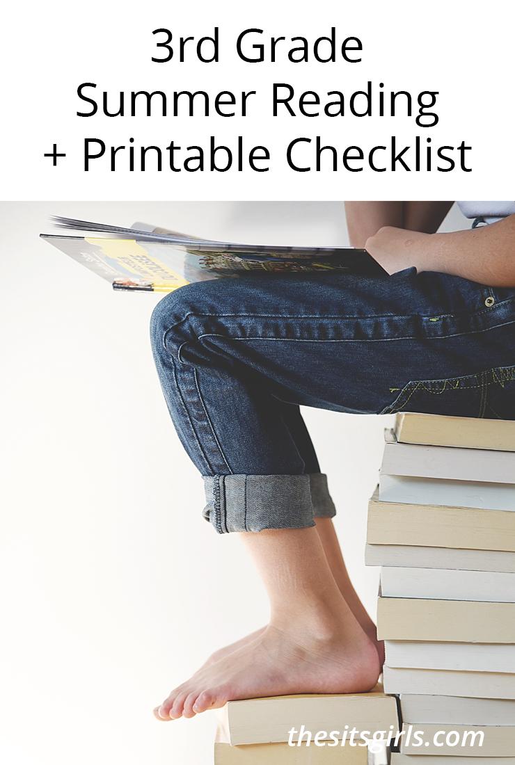 3rd Grade Books | 3rd Grade Summer Reading Printable Checklist