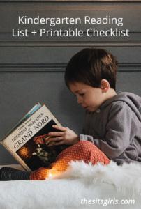 Kindergarten Books   Kindergarten Reading List + Printable Checklist