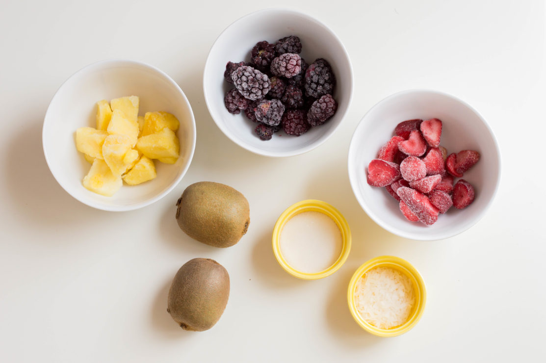 ingredients for fruit smoothie