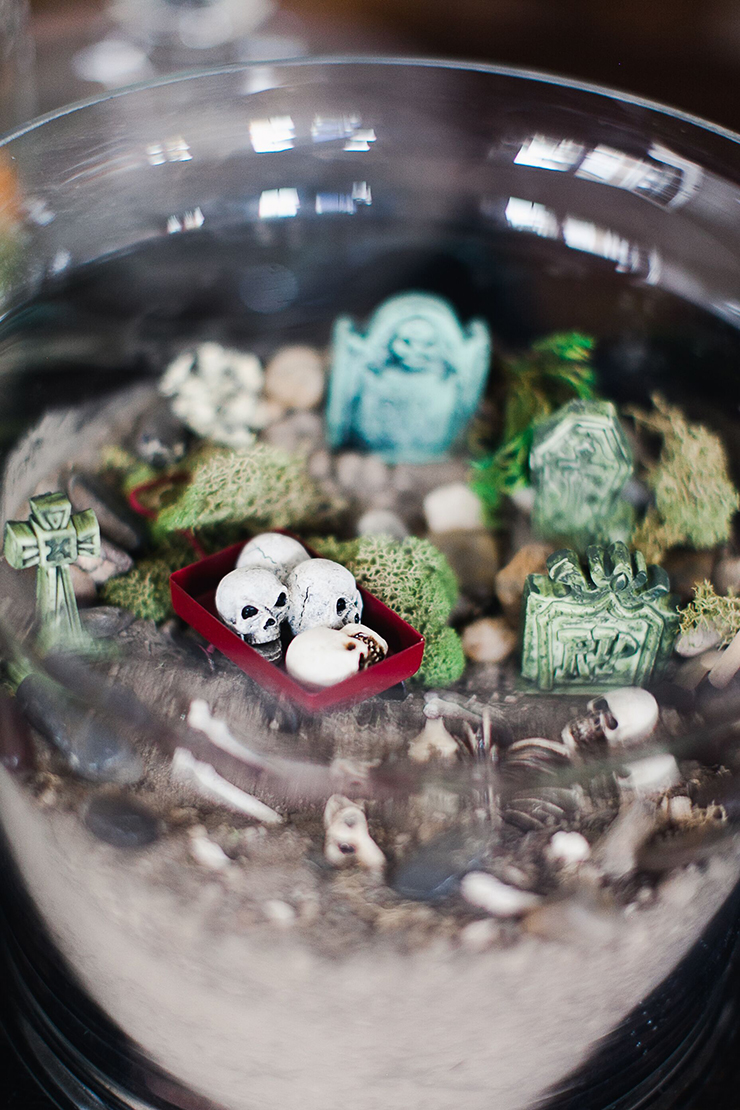 For Halloween this year, this is how you can are up the spooky factor on DIY terrariums and make a fun, festive Halloween Terrarium! It's fun and easy to do