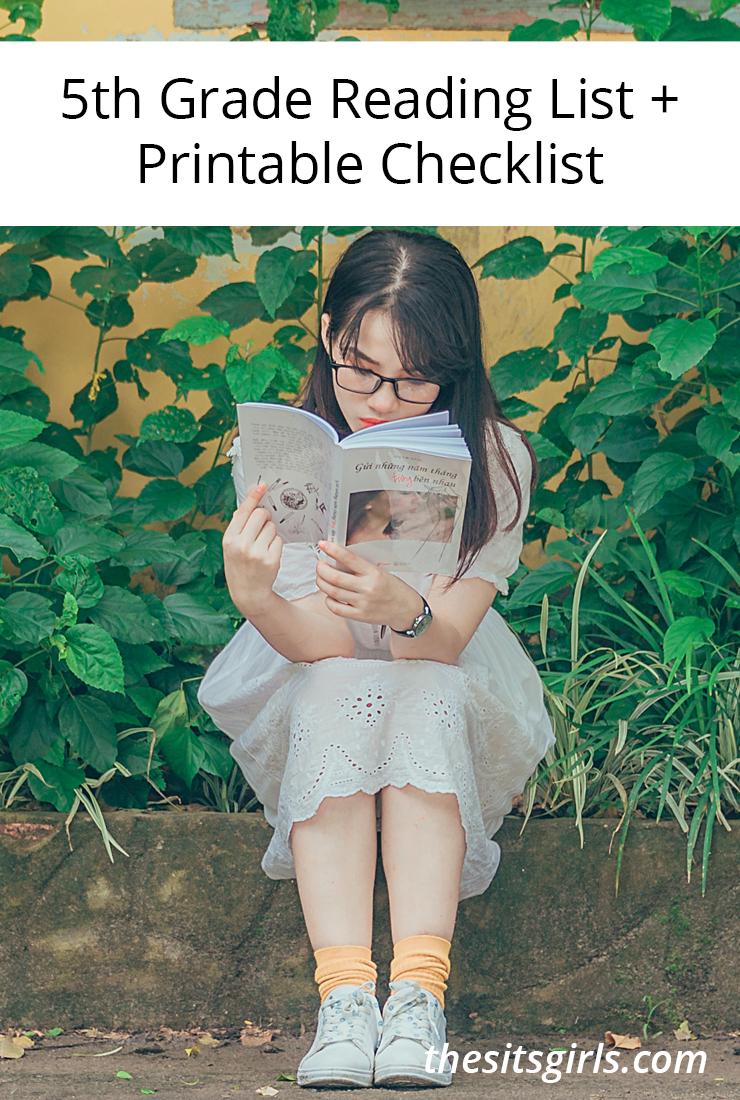 5th Grade Books | 5th Grade Reading List + Printable Checklist