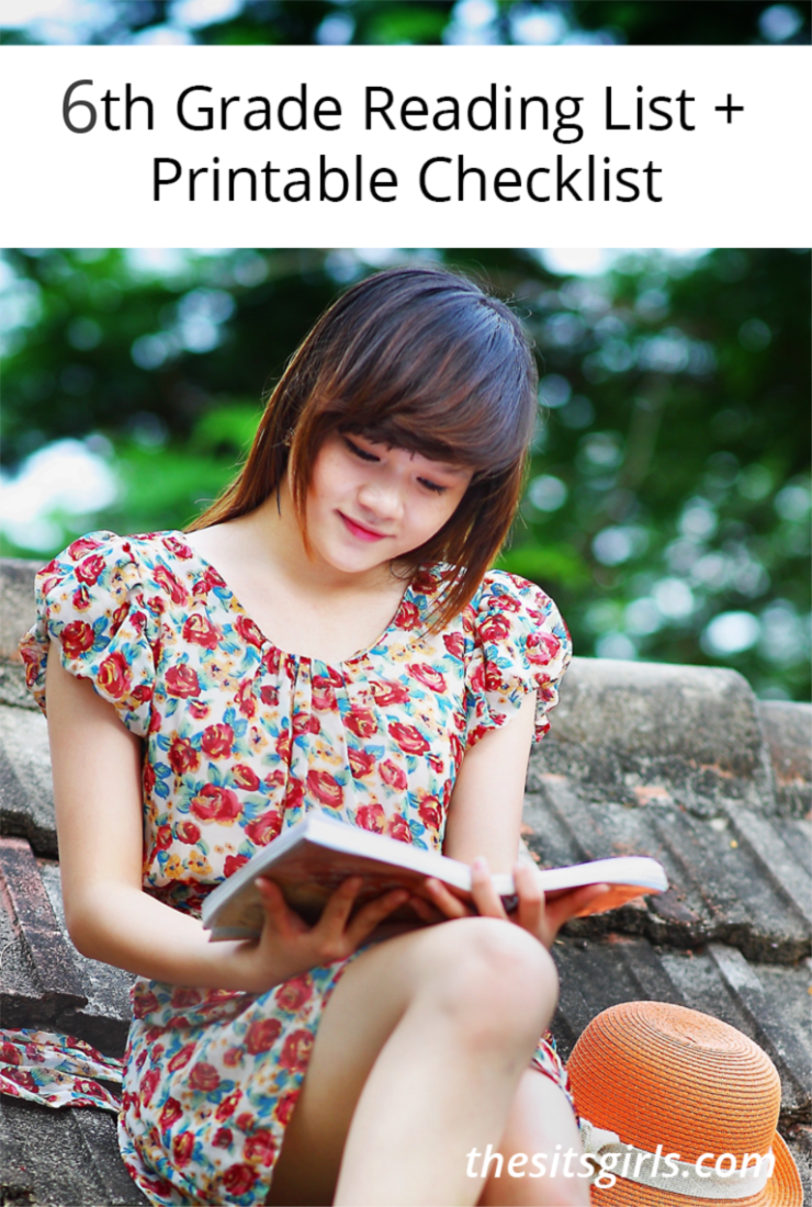 6th Grade Books | 6th Grade Reading List + Printable Checklist