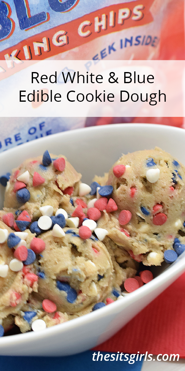 Red White & Blue Edible Cookie Dough.