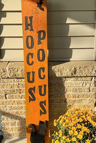 orange hocus pocus sign