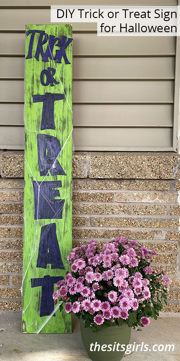 DIY Trick or Treat Sign for Halloween